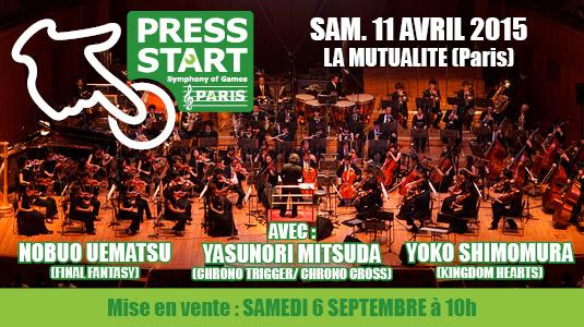 Concert PRESS START - Symphony of Games, le 11 avril à Paris