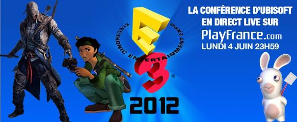 E3 2012 : La conférence Ubisoft en direct sur PlayFrance - 1