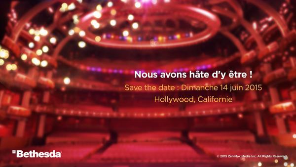 [Infos] E3 2015 : Bethesda aura sa conférence - 1