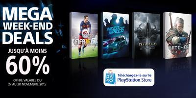 [Annonce] Mega week-end deals sur le PS Store - 1