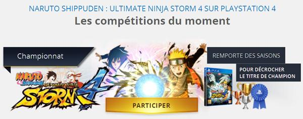 [Annonce] Playstation Plus League : Tournoi Naruto Storm 4 - 1