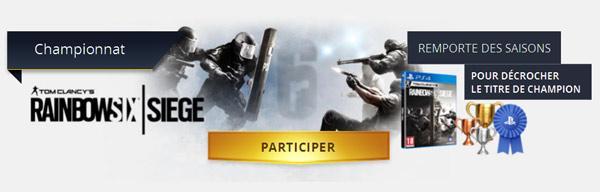 [Annonce] PlaystationPlusLeague : Participez au championnat R6 : Siege - 1