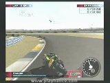 Une course de 125cc sur le circuit de Phakisa.